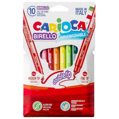 Carioca Набор фломастеров Birello (41438), 10 шт. набор фломастеров birello двусторонних 12 цв в картонном конверте