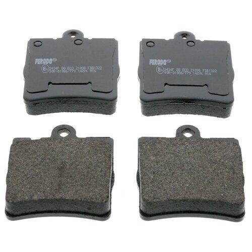 Дисковые тормозные колодки задние Ferodo FDB1322 для Mercedes-Benz C-class, Mercedes-Benz CLK-class, Mercedes-Benz CLC-class, Mercedes-Benz E-class (4 шт.) print bar mercedes benz