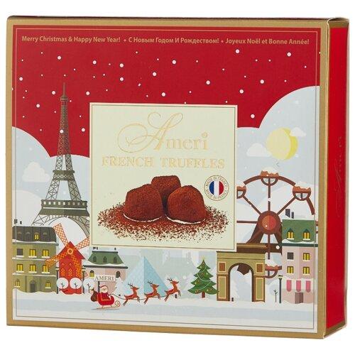 Набор конфет Ameri трюфели классические Рождество в Париже с новогодним конвертом, 250 г красный/белый