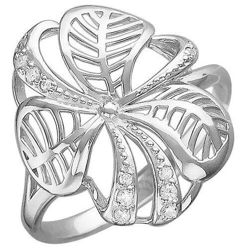 Эстет Кольцо с 12 фианитами из серебра Н11К152645, размер 17 ЭСТЕТ