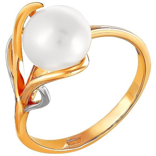Фото - ПримаЭксклюзив Кольцо Цветок с 1 жемчугом из красного золота 190-1-598Р, размер 17 примаэксклюзив кольцо с 1 жемчугом из красного золота 190 1 921р размер 17