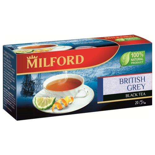 Чай черный Milford British grey в пакетиках, 20 шт. чай зеленый milford wellness в пакетиках 20 шт