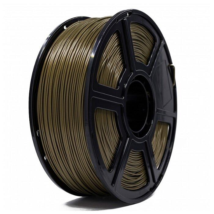 ABS пруток Tiger 3D 1.75 мм золотой 1 кг фото 1