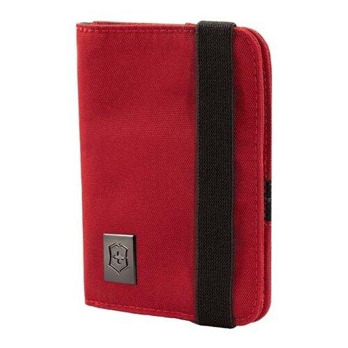 Обложка для паспорта с защитой от сканирования RFID, красная, нейлон 800D, 10x1x14 см