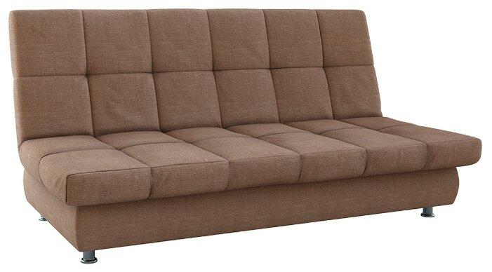 Прямой диван Первый Мебельный Уют Коричневый
