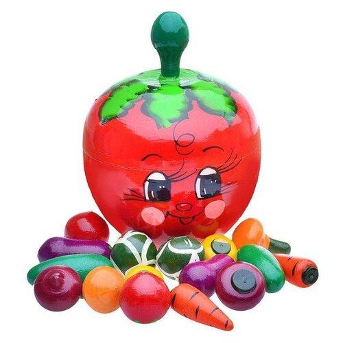 Набор продуктов Русская народная игрушка Счетный материал в помидоре Р-45/785 красный/разноцветный фото