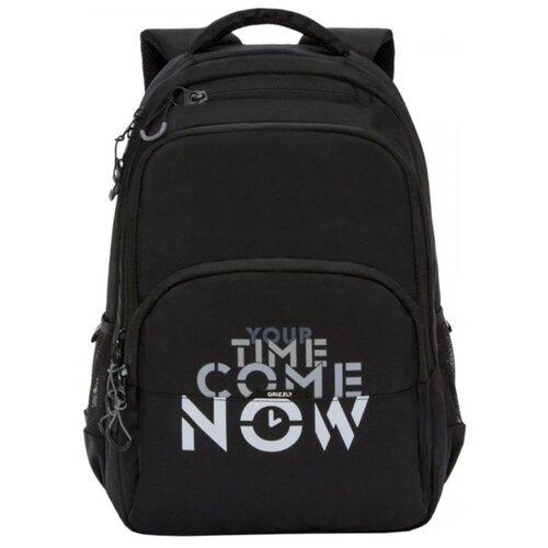 Рюкзак Grizzly RU-030-2/4 21.5 (черный) рюкзак городской grizzly цвет серый 25 л ru 614 1 4