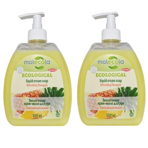 Купить Мыло жидкое Molecola Экологичное Освежающий ананас, 500 мл, 2 шт.