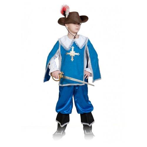 Купить Костюм КарнавалOFF Мушкетер Атос (5038), синий, размер 128-134, Карнавальные костюмы