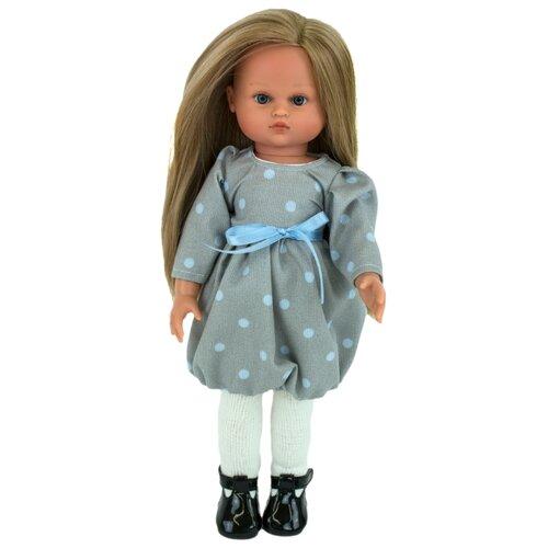 Кукла Lamagik Нэни блондинка в сером платье в горох, 33 см, 33003