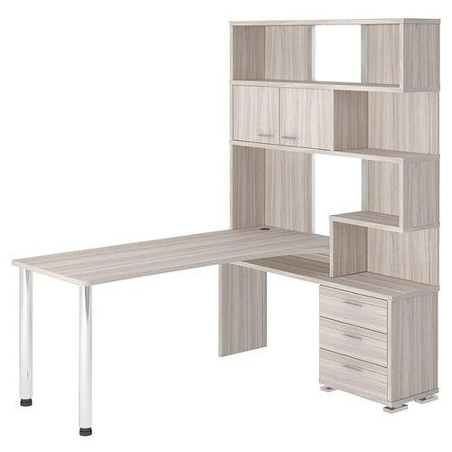 Компьютерный стол угловой Мэрдэс Домино СР-420, 130х170 см, тумба: справа, цвет: карамель террариум в угловой 60л 420 420 410