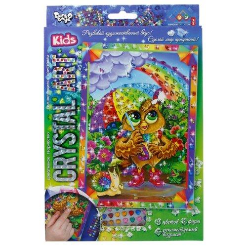 Купить Danko Toys Набор алмазной вышивки Crystal Art Сова и радуга (Cart-01-10), Алмазная вышивка