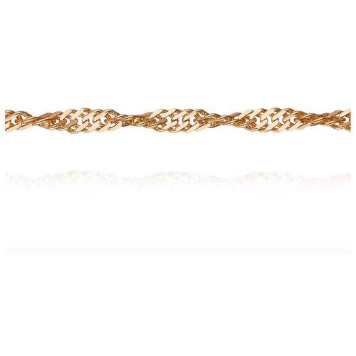 АДАМАС Цепь из золота плетения Панцирь одинарный ЦП240СзА2-А51, 40 см, 4.22 г