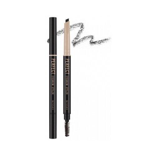 Missha карандаш The Style Perfect Eyebrow Styler, оттенок black