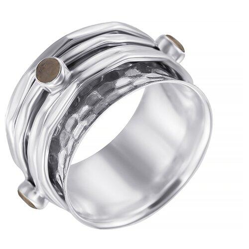 Фото - ELEMENT47 Широкое ювелирное кольцо из серебра 925 пробы с лунным камнем (адулярами) DR2015_KO_LK_001_WG, размер 17 element47 кольцо из серебра 925 пробы с лунным камнем адулярами 11b 1516 ko lk wg размер 17 5