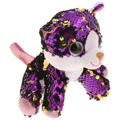 Мягкая игрушка Abtoys Кошка с пайетками 14 см, Мягкие игрушки  - купить со скидкой