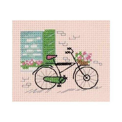 Klart Набор для вышивания Зарисовки. Велосипед 10.5 х 9 см (8-408)