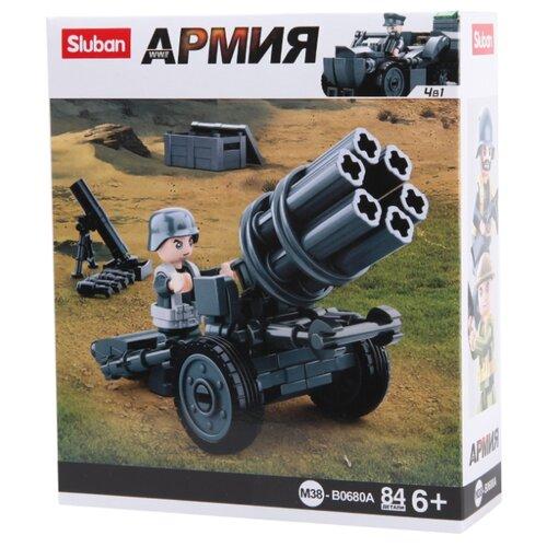 Купить Конструктор SLUBAN WW2 M38-B0680A Реактивная пусковая установка, Конструкторы