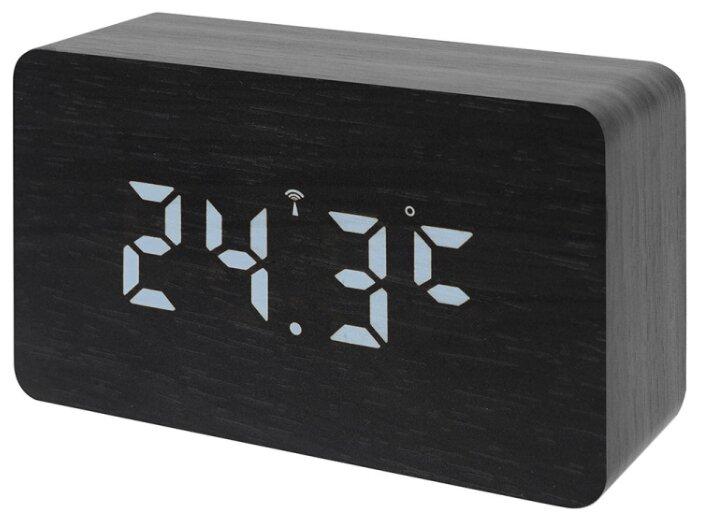 Часы с термометром BRESSER MyTime W Color LED фото 1