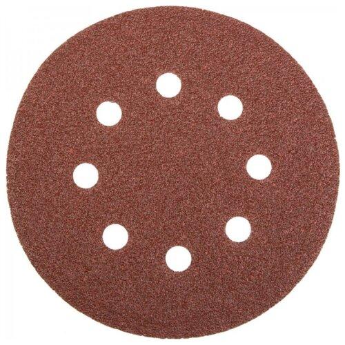 Шлифовальный круг на липучке STAYER 3580-125-080 125 мм 5 шт круг шлифовальный elitech 1820 038400 5 шт p120 125 мм