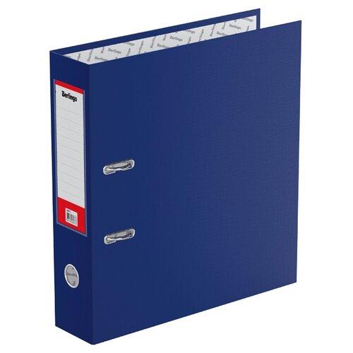 Berlingo Папка-регистратор с карманом на корешке Standard А4, бумвинил, 70 мм синий berlingo папка регистратор с карманом на корешке standard а4 бумвинил 70 мм красный