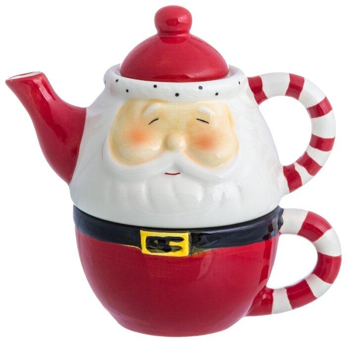 Купить Чайный набор 150х100х150 см 250 мл Elan Gallery Эгоист Дед Мороз по низкой цене с доставкой из Яндекс.Маркета (бывший Беру)