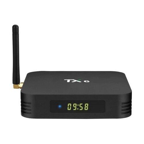 Фото - ТВ-приставка Tanix TX6 4/32Gb, черный тв приставка tanix tx6s 4 64gb черный