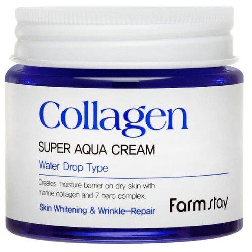 Farmstay Collagen Super Aqua Cream суперувлажняющий крем для лица с коллагеном, 80 мл крем с коллагеном farmstay dr v8 solution collagen cream 50ml
