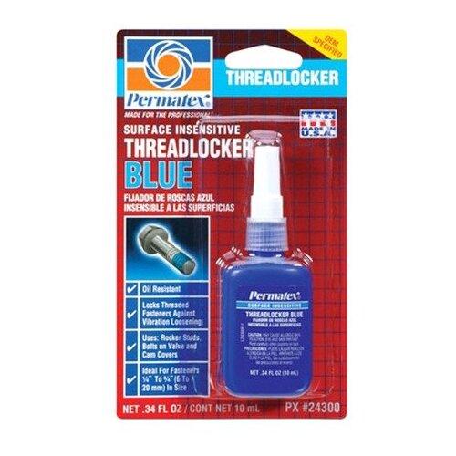 Фиксатор резьбовых соединений средней фиксации разъемный PERMATEX Threadlocker Blue 24027/24300 10 мл