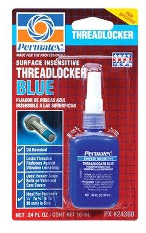 Фиксатор резьбовых соединений средней фиксации разъемный PERMATEX Threadlocker Blue 24027/24300 6 мл