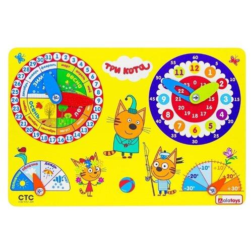 Бизиборд Alatoys Три кота Календарь природы разноцветный недорого