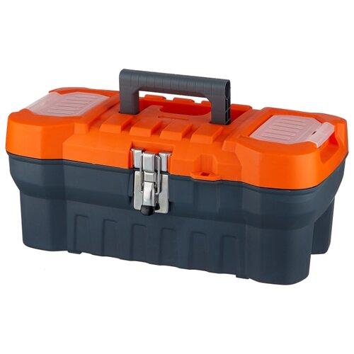 Ящик с органайзером BLOCKER Expert PC3730 41x21x17.5 см 16'' серый/свинцовый ящик с органайзером blocker master br6006 61x32x30 см 24 серо свинцовый оранжевый