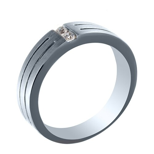 JV Кольцо с бриллиантами из белого золота EZDR-D01984L-WG, размер 18