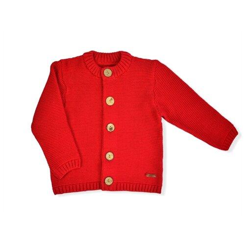 Купить Кардиган LEO размер 104, красный, Свитеры и кардиганы