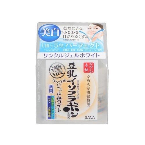 SANA Увлажняющий и подтягивающий крем-гель для лица с ретинолом и изофлавоном сои (с осветляющим эффектом), 100 г