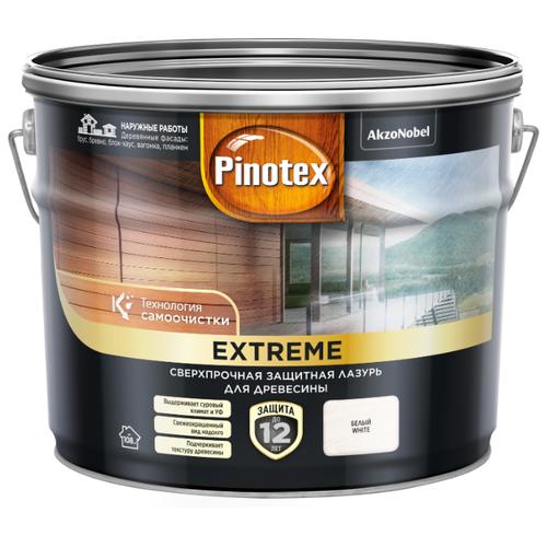 Водозащитная пропитка Pinotex Extreme белый 9 л