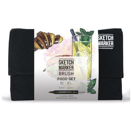 Купить SketchMarker Набор маркеров Brush Food Set, 24 шт, Фломастеры и маркеры