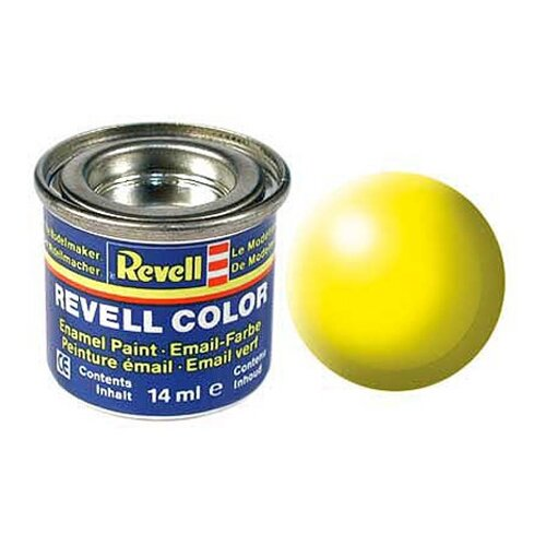 Краски для моделизма, желтая РАЛ 1026, шелково-матовая