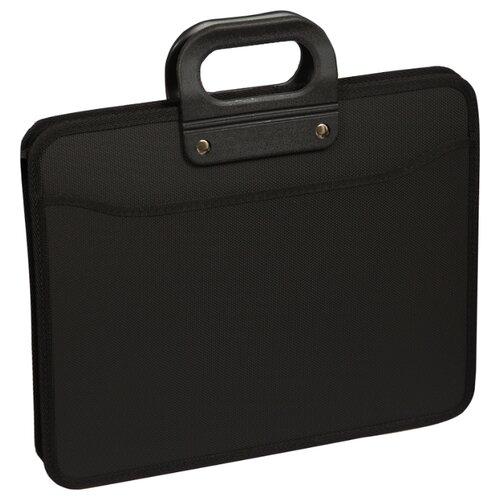 Купить OfficeSpace Папка-портфель 3 отделения А4+, на молнии, пластик черный, Файлы и папки