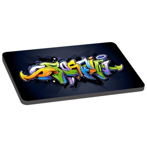 Лежак для собак PerseiLine Граффити 2 70х45х6 см черный