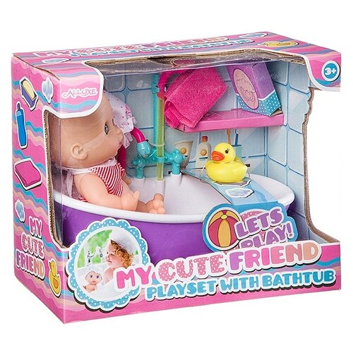 Купить Пупс Гратвест в ванне, с аксессуарами, Куклы и пупсы