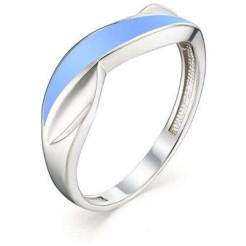 АЛЬКОР Кольцо с эмалью из серебра 01-1096-ЭМ32-00, размер 18 алькор кольцо с эмалью из серебра 01 1096 эм75 00 размер 18
