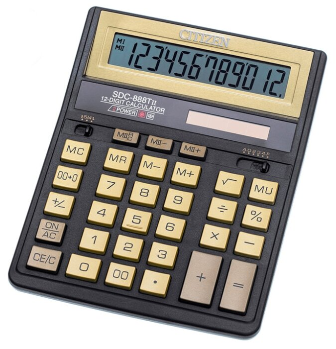 Калькулятор бухгалтерский CITIZEN SDC-888TII