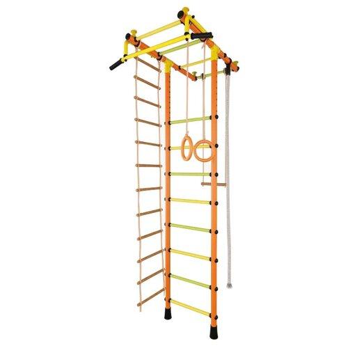 Купить Шведская стенка TMK PRO Маугли 02 оранжевый/желтый/зеленый, Игровые и спортивные комплексы и горки