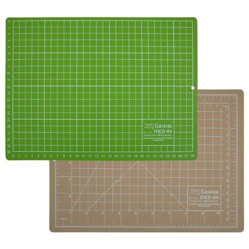 Купить Gamma Мат для резки двусторонний DKD-04 30 x 22 см формат А4 бежевый/салатовый, Инструменты и аксессуары