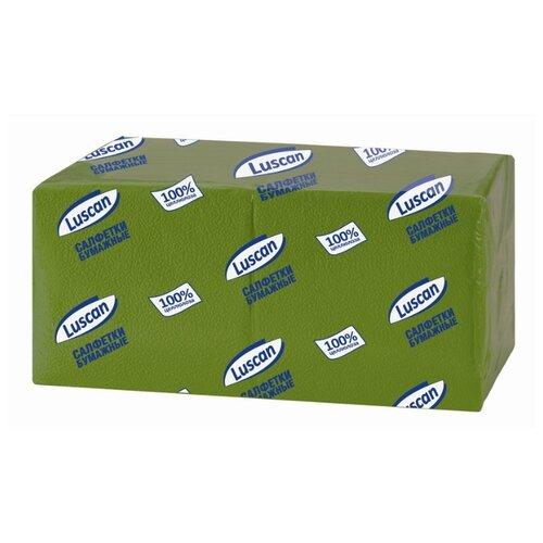 Купить Салфетки бумажные Luscan Profi Pack 1 слой, 24х24 зеленые 400шт/уп