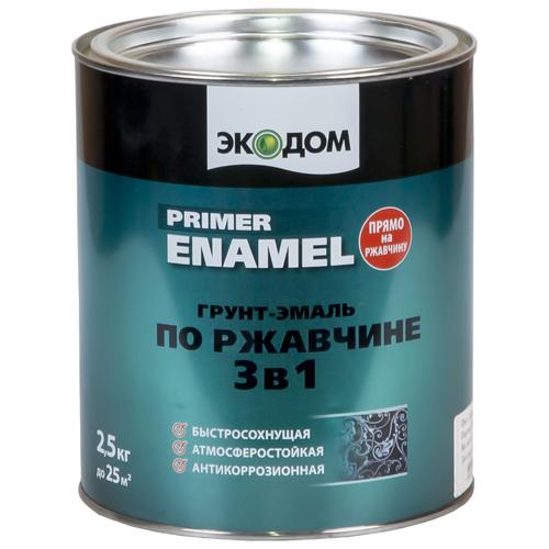 ЭКОДОМ по ржавчине 3-в-1 красно-коричневый 2.5 кг