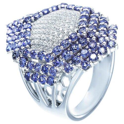 JV Кольцо с фианитами из серебра OL01222B-KO-001-WG, размер 17.5 по цене 7 900