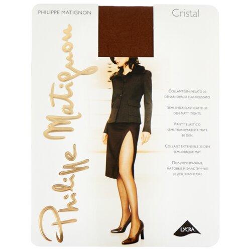Колготки Philippe Matignon Cristal 30 den, размер 5-MAXI-XL, noce (коричневый) колготки philippe matignon cristal 30 den размер 5 maxi xl glace бежевый