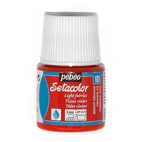 Pebeo Краска для светлых тканей Setacolor 45 мл 101 ярко-оранжевый pebeo краска акриловая acrylic paint матовая цвет 097820 мышиный 59 мл